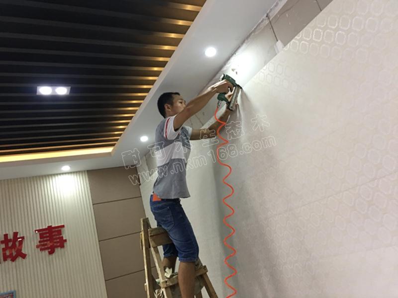 生态木集成墙板,护墙板安装实操